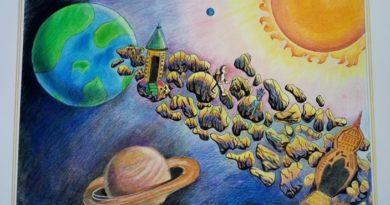 Вітаємо переможців обласного етапу Всеукраїнського гуманітарного конкурсу «Космічні фантазії»